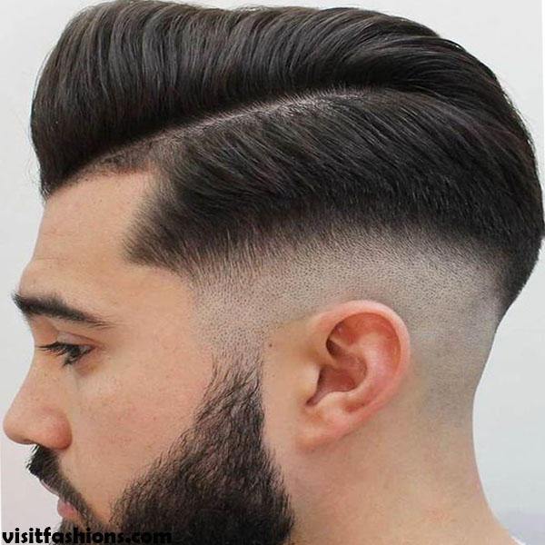 Low Fade Haircut + Side Part
