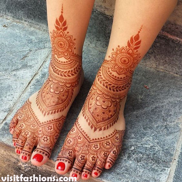 Admirable Feet trukish Mehndi designs Pattern