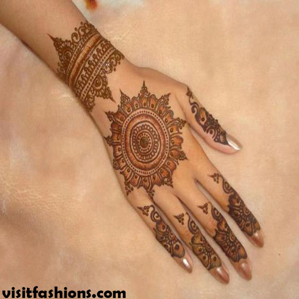 Easy Turkish Mehndi designs Pattern