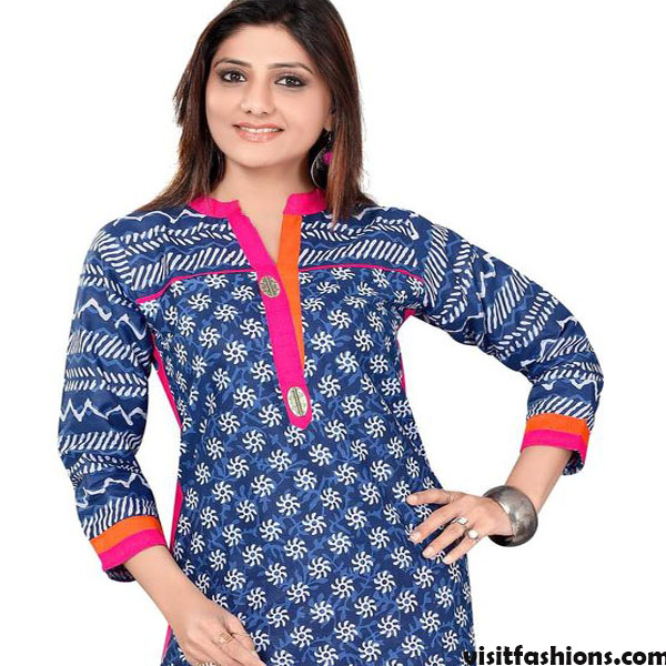 Attractive Neck Designs For printed Fabrics