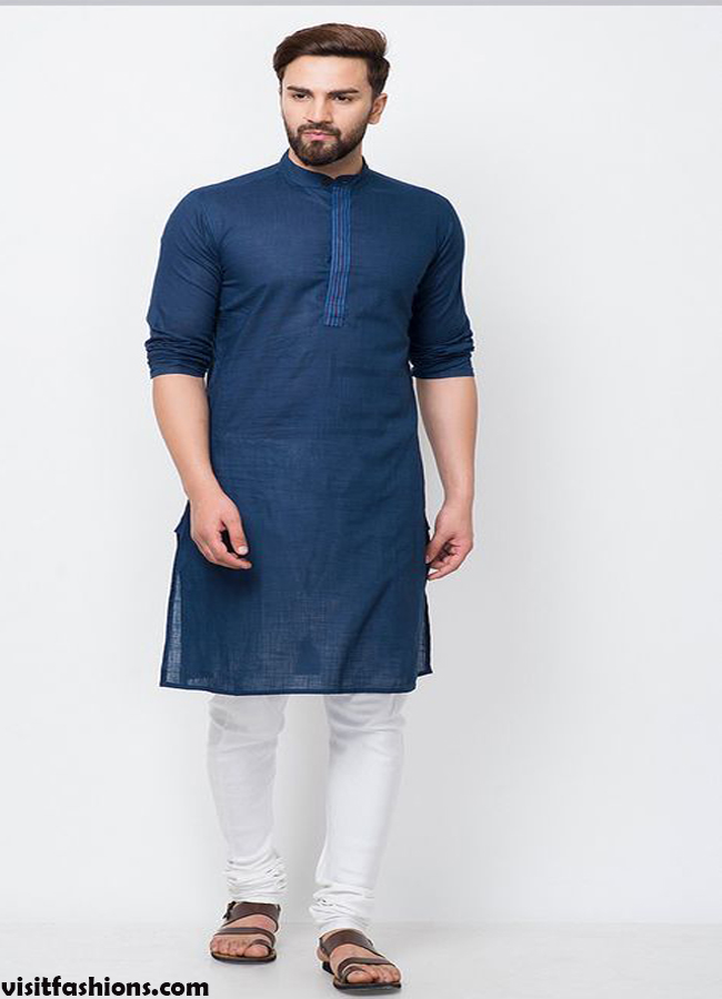Blue Fashion Kurta designs for men