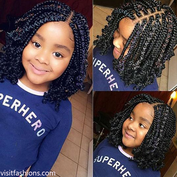 Latest Collection Of Kids Hairstyles With Braids In 2020
