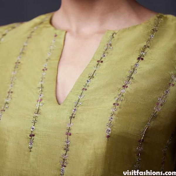 V-shaped dress Neck Designs