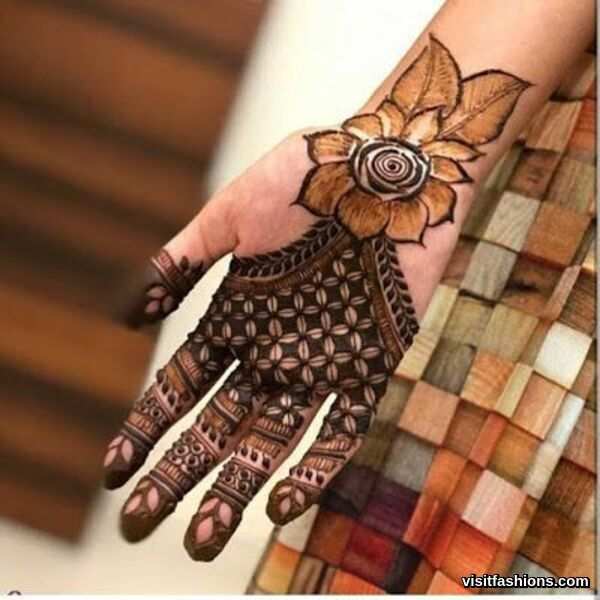 simple Arabic mehndi Designs