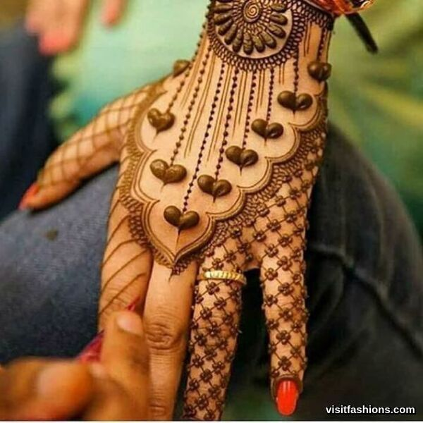 arabian mehndi design back hand