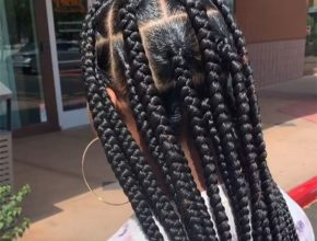 Box braids hairstyle