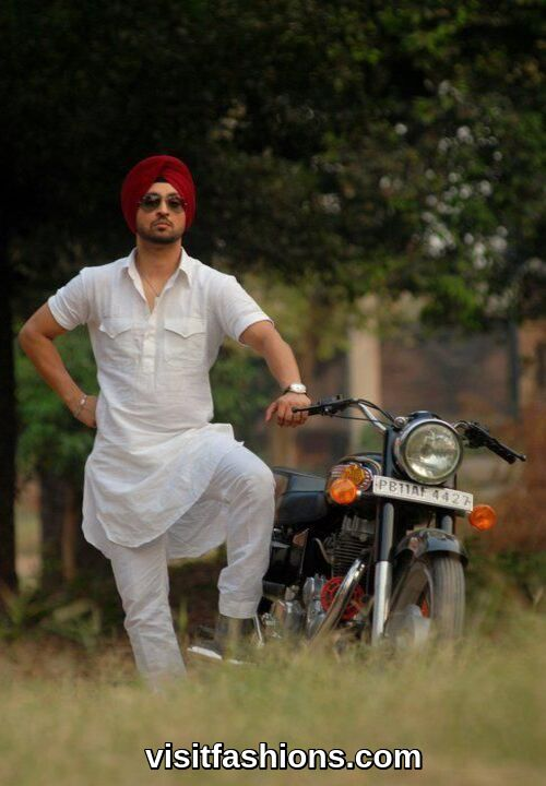 stylish white punjabi kurta pajama for men