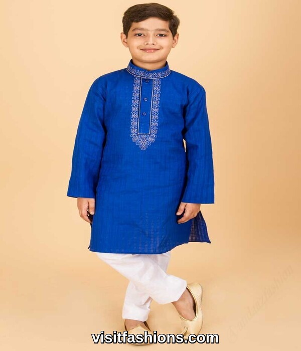 blue kurta for boys