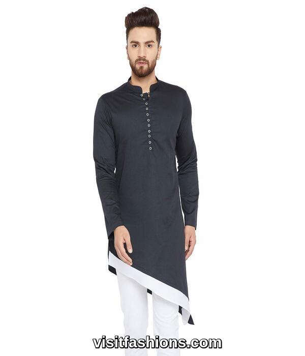 balck punjabi kurta pajama for men