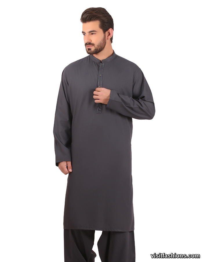 Mid blue Edenrobe Shalwar Kameez For Men
