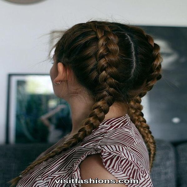 simple braide hairstyles for girls
