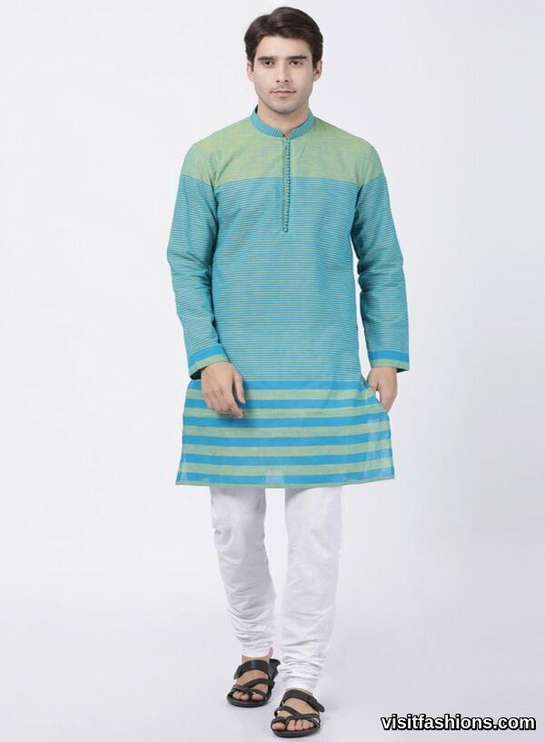 light blue punjabi kurta pajama