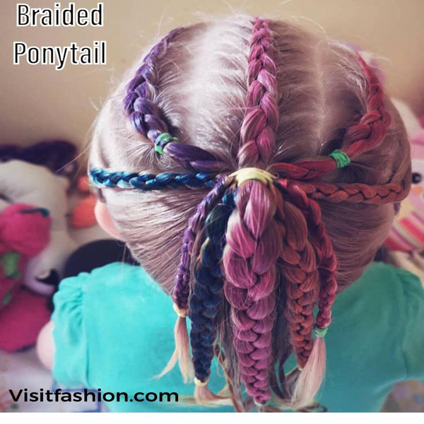 braided ponytail hairstyles for girls