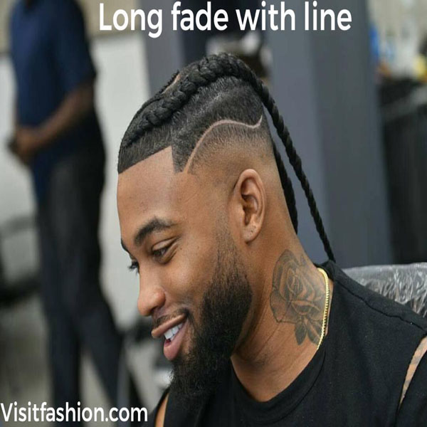 long fade haircuts for black men