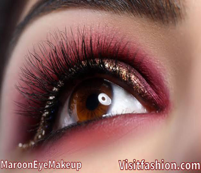 maroon eye makeup