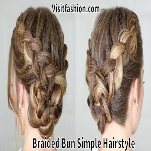 latest bun hairstyles with braids for girls