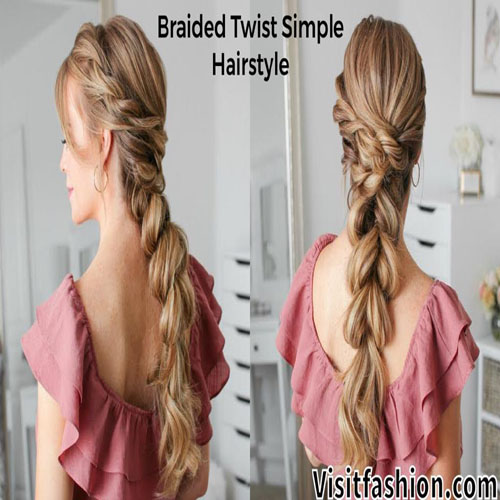 braided simple hairstyles for girls