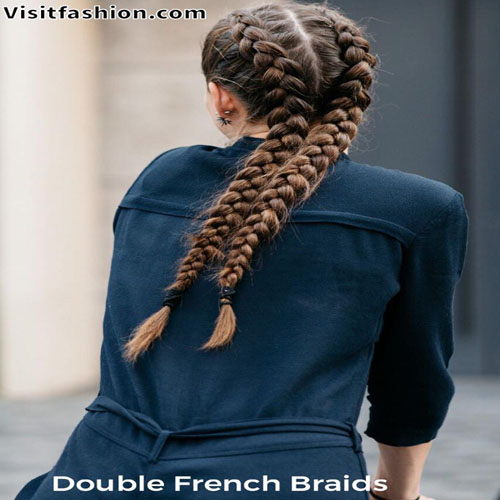 Double braided hairstyles for girls
