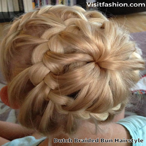 braided bun hairstyles for girls
