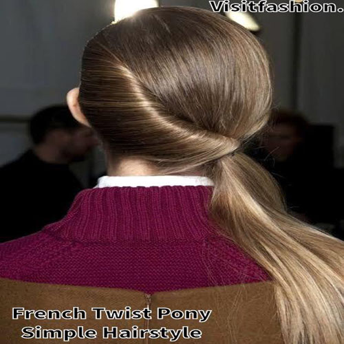 french twist ponytail for girls