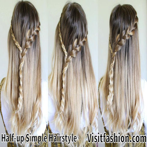 simple hairstyles for girls new year