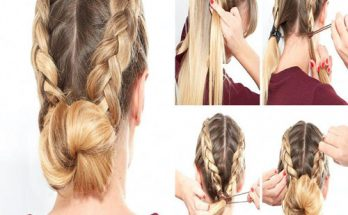 low bun simple hairstyle for girls