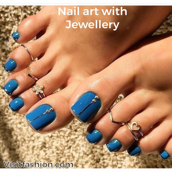 simple and easy nail art for toes