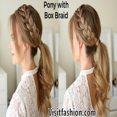 ponytail with braids hairstyles for girls