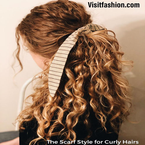hairstyles for girls with scarf