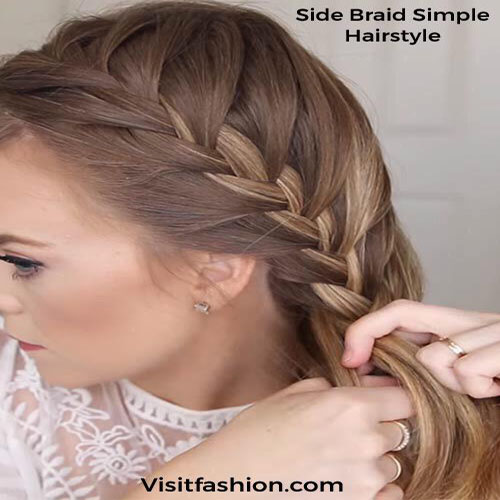 side braided hairstyles for girls