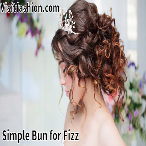 simple bun hairstyle for girls