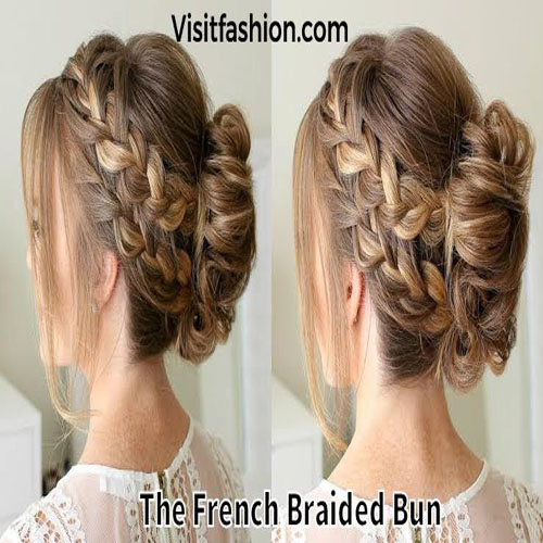 simple and easy braided bun hairstyles for girls