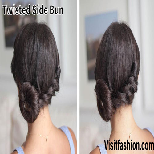 side bun hairstyles for girls in 2021