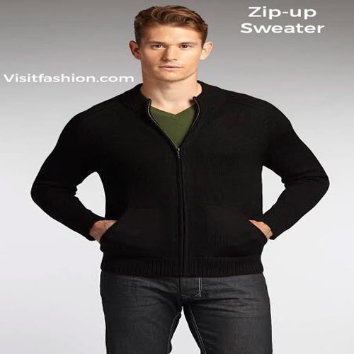 zipup sweater for men latest
