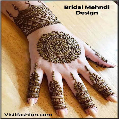 simple bridal mehndi designs in 2021