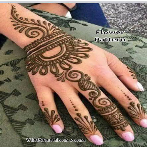 flower mehndi designs for back hand