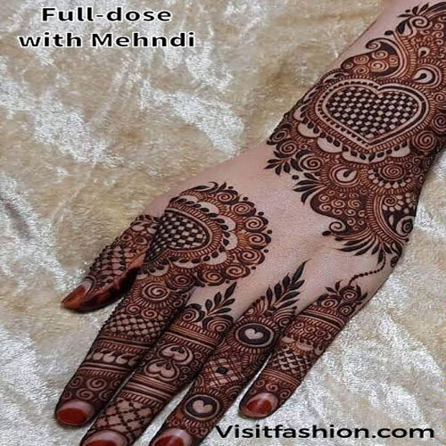 full hand mehndi design for girls