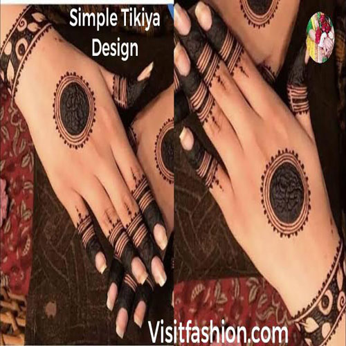 simple tikkya mehndi designs