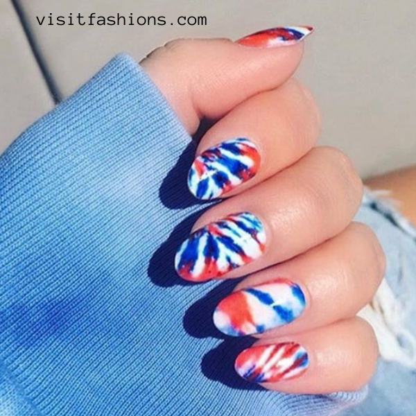 tie and dye nail art