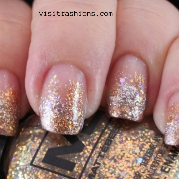 Gold and silver nail art