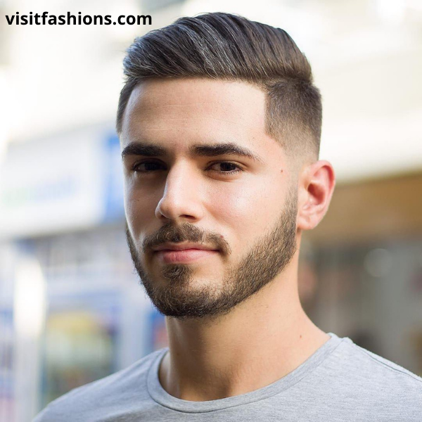 Short comb over hairstyle for men