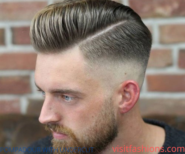 POMPADOUR WITH UNDERCUT_Men's Hairstyle for thin hair